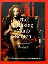 "2013 Dewar'S The Drinking Man's Scotch Original Print Ad 8.5 x 11 """