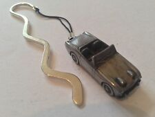 """Austin Healey """"Frog Eye Sprite""""  FULL CAR on a CURVED bookmark with cord ref16"""