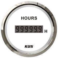 KUS Digital Hour Meter Marine Boat Tractor Engine Truck Hour Meter 12/24 Volt