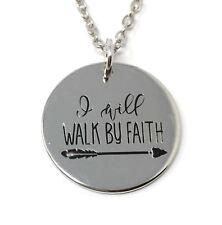 925 Argento PLT verrò a piedi dalla fede Collana con pendente freccia amore Dio Gesù un