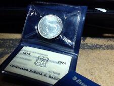 4m) moneta da 500 lire in Argento 1974 Marconi fdc