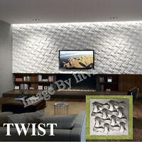 3D Decorative wall panels ABS Plastic molds Plaster Gypsum alabaster TWIST