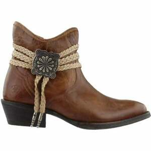 """Ariat Circuit Sage Round Toe   Womens  Boots   Ankle Mid Heel 2-3"""" - Brown -"""