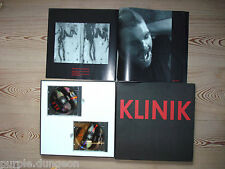 KLINIK - 2-CD   LP-SIZED BOX w. 24 PAGES BOOKLET WITH PHOTOS 1989 ANTLER-SUBWAY