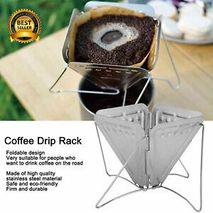 Folding Coffee Dripper Holder Outdoor Camping Picnic Tea Coffee Filter Rack UK