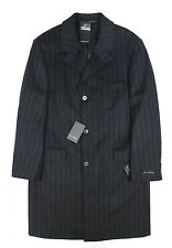 Van Kollem - Charcoal Stripe Overcoat - 48(UK 38) - *NEW WITH TAGS* RRP £195