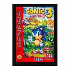 Sega Genesis SONIC THE HEDGEHOG 3 GAME Box Cover Framed Photo Game Room Mancave