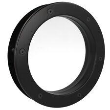 MLS Bullauge B4000 A8 Rundfenster Aluminium schwarz matt Ø 25 cm Glas klar 0180-