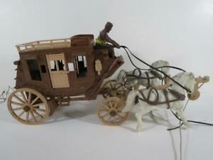 1950's Roy Rogers Ideal Toys Western Stage Coach Plastic Toy