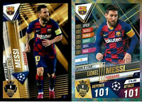 2020 Match Attax 101 Soccer Card - Lionel Messi World Star W1 inc sticker