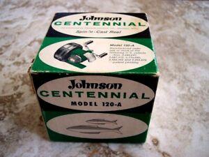 BOX ONLY Vintage Johnson Centennial 120A Spin 'n Cast Fishing Reel Box NO REEL