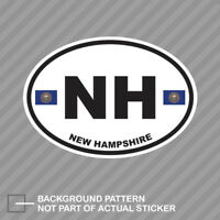 New Hampshire State Flag Oval Sticker Decal Vinyl NH