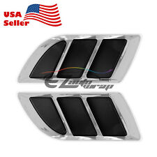 Universal ABS Chrome Fender Grill Body Side Vents Car SUV Sticker VIP Decoration
