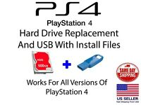 "Sony PlayStation 4 Replacement Internal 500GB 2.5"" Hard Drive with USB Update"