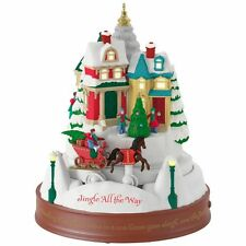 Jingle All the Way 2017 Hallmark Magic Ornament  Moonlit Sleigh Ride  In Stock