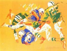 "$$ Drop ""Orange Football"" by LeRoy Neiman 1972 serigraph 169/175 25.58' x 18.75"""
