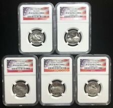 2006 S 5 Coin Silver Proof Quarter Set NGC Graded PF69 UCAM Flag Label B2d