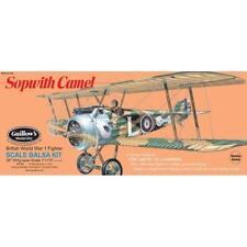 Balsa Wood Flying Bi-Wing Model Airplane Kit Guillows WW I Sopwith Camel GUI-801