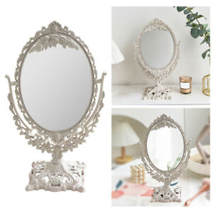 Decorative Desktop Mirror Makeup Mirror with Stand Double Sided Mirror