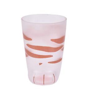 Creative Cute Cat Paws Glass Tiger Mug Office Coffee Mug Tumbler Milk Cup_ Z  IF