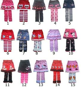 Kids baby girls skirt with leggings1 2 3 4 years outfit children clothing