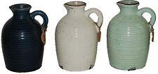 More details for brand new ornamental jug rustic design garden jug in mint green white blue