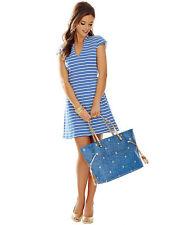 NWT $188 - LILLY PULITZER Bree Dress, Ottoman Stripe, Bay Blue, EXTRA SMALL (XS)