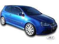 VW GOLF mk5 3 doors 2004-2009 Front wind deflectors 2pc set TINTED HEKO
