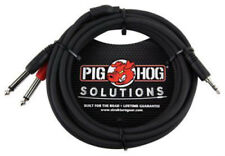 Pig Hog PBS3410 10ft Stereo Breakout Cable 3.5mm to Dua