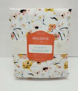 Sheet Set Twin XL Printed Easy Care Opalhouse Floral New Open Box