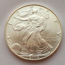 2005 SILVER 1 OZ .999 EAGLE DOLLAR UNCIRCULATED COIN