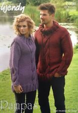 Wendy Unisex Cable Sweater and Cowl Knitting Pattern Leaflet 5698 New Free P&P