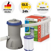 Bestway Filterpumpe Flowclear Poolreinigung Filter 5838 Poolpumpe Pumpe 3028L/h