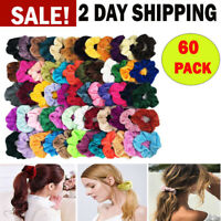 Colorful Velvet Hair Band Scrunchies Set Elastic Bobble For Ponytail Girls Women