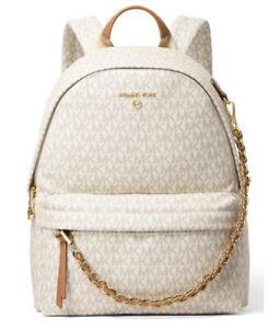 ❤️ Michael Kors Slater Medium Vanilla/Acorn Backpack