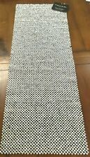"""NWT Tahari Silver Beaded Table Runner Centerpiece 13""""x36"""" Shimmer Luxe Gorgeous"""