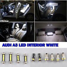 10pcs AUDI A3(8P) - LED INTERIOR CAR LIGHT BULBS KIT XENON WHITE ERROR FREE