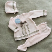 Newborn Outfit Baby Girl Outfit Knitted Outfit Spanish Knitwear Knitted Outfit
