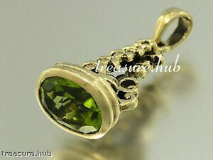 P014 - LOVELY Genuine 9K Yellow GOLD Natural PERIDOT FOB or PENDANT