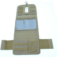 Military Molle Equipped Toiletry Bathroom Camping Travel Wash Kit Bag TAN