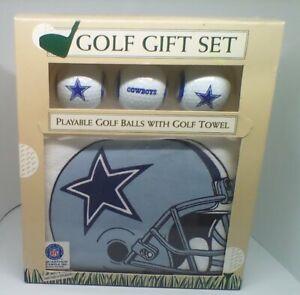 Dallas Cowboys 3 Playable Golf Balls with Logo & Screen Printed Logo Towel, NIB
