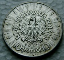 POLOGNE 10 ZLOTY 1936 ARGENT