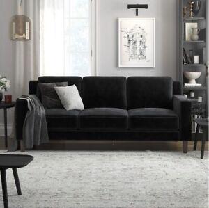 Black Velvet, 3 Seater Sofa