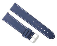 20MM SMOOTH LEATHER WATCH BAND STRAP FOR SEIKO SARB017 SSC081 SOLAR BLUE WS