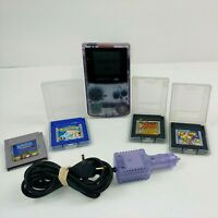 🔥 Nintendo Gameboy Color Atomic Purple w/ Pokémon Blue Zelda DX Game & Watch 🔥