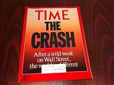 TIME MAGAZINE 1987 NOVEMBER 2 THE STOCK MARKET CRASH ROBERT SOLOW FRANK STELLA