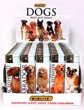 WINLITE DOG LIGHTERS - 5 ASSORTED BREEDS (50 COUNT DISPLAY)