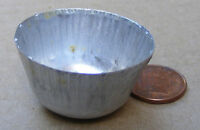 1:12th Medium Round Empty Metal Bowl - Tub Dolls House Miniature Garden BKKL