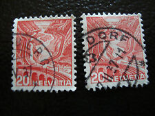SUISSE - timbre - yvert et tellier n° 293 293A obl (A8) stamp switzerland
