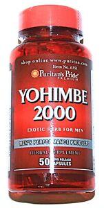 Yohimb 2000mg Herbal Bark Extract 50 Capsules Male Men's Performance